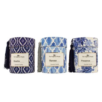 The Indigo Collection 220gm Hand Poured Candle 3 Asst