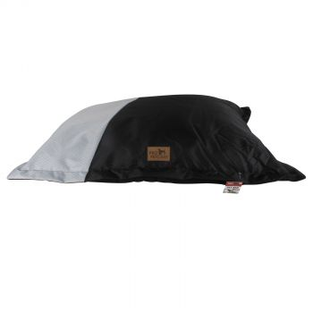 Black Pillow Pet Bed Two Tone 600D with Non Skid
