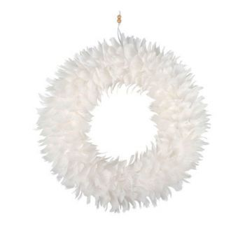Luxe Feather Wreath 40cm