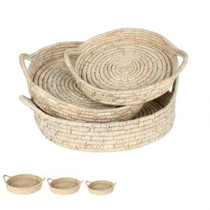Cottesloe Kans Grass Round Trays Set of 3