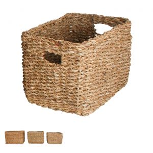 Iluka Seagrass Rectangle Basket With Handle Set of 3